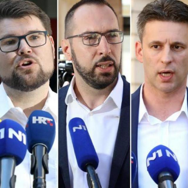 Andrej Plenković, Peđa Grbin, Tomislav Tomašević, Božo Petrov i Miroslav Škoro