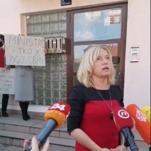 Prosvjed socijalnih radnika