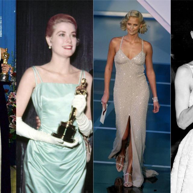 Julia Roberts, Grace Kelly, Charlize Theron, Audrey Hepburn na dodjelama Oscara