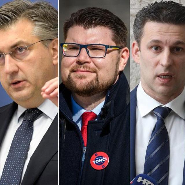 Zoran Milanović, Andrej Plenković, Peđa Grbin, Božo Petrov i Tomislav Tomašević