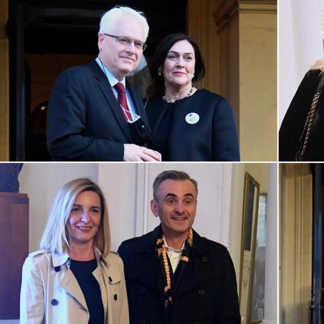 Ivo i Tatjana Josipović,Dubravka Vrgoč i Nina Obuljen Koržinek,Senka i Davor Meštrović,Marija Sekelez