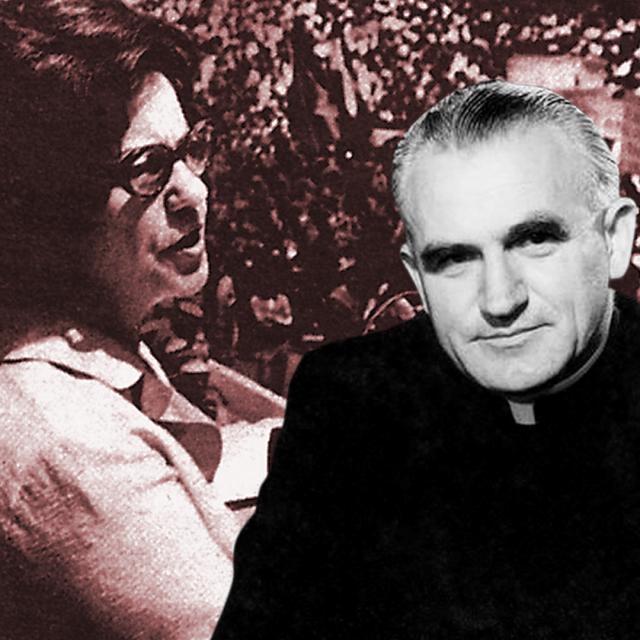 Savka Dabčević Kučar (lijevo), Franjo Kuharić (desno)