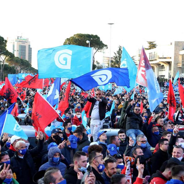 Predizborni skup u Albaniji