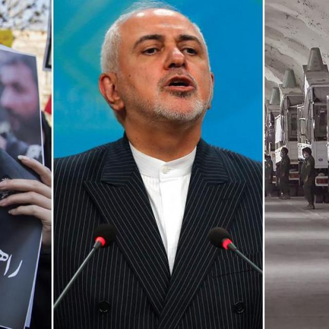 Prizori iz Irana i ministar Zarif u sredini