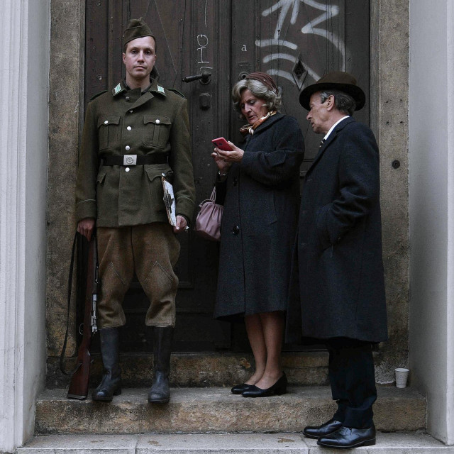 Snimanje serije The Ipcress File u Dalmatinskoj ulici