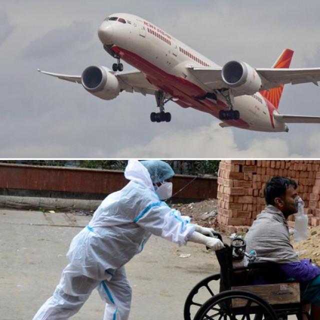 Prizori iz Indije i Boeing komapnije Air India
