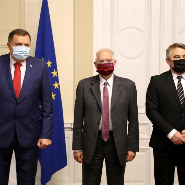 Milorad Dodik, Josep Borrell i Željko Komšić