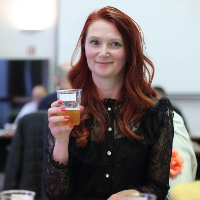 Kristina Mastanjević na ocjenjivanju piva