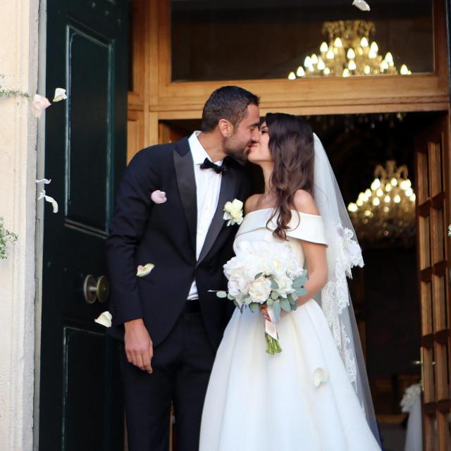 Vjencanje Marina Čilića i Kristine Milković u Crkvi Svetog Nikole u Cavtatu 2018.
