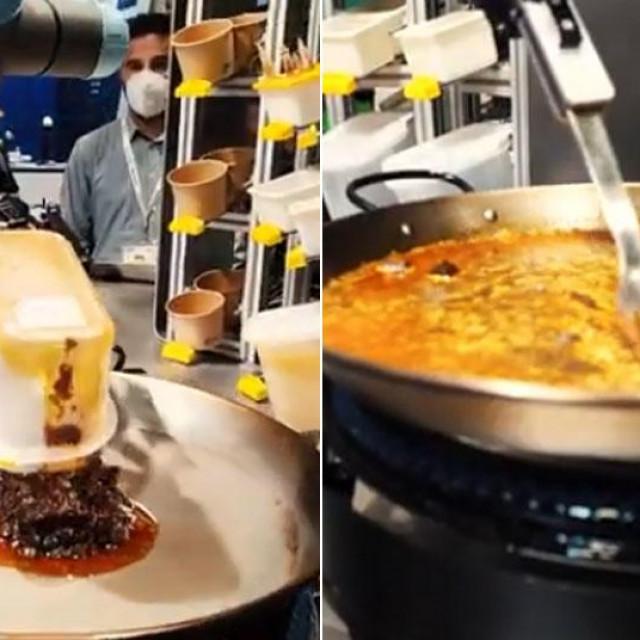 Robot priprema paellu
