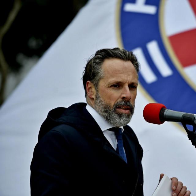 Predsjednik Hajduka Lukša Jakobusić<br />