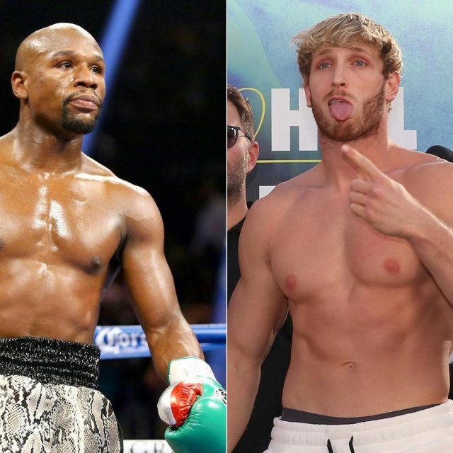 Floyd Mayweather Jr i Logan Paul