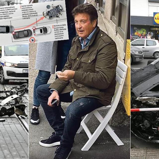 Prizor nesreće u Dubravi, inforgrafika nesreće i Boško Dimitrijević