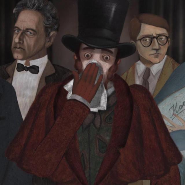 "Kadar iz animiranog filma ""The Nose or the Conspiracy of Mavericks"" koji potpisuje ruski autor Andrey Khrzhanovsky"