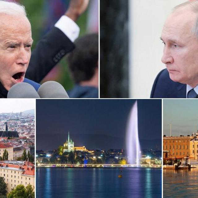 Joe Biden, Vladimir Putin i prizori iz Beča, Ženeve i Helsinkija