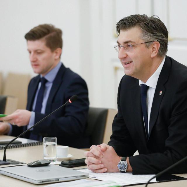 Zdravko Marić i Andrej Plenković
