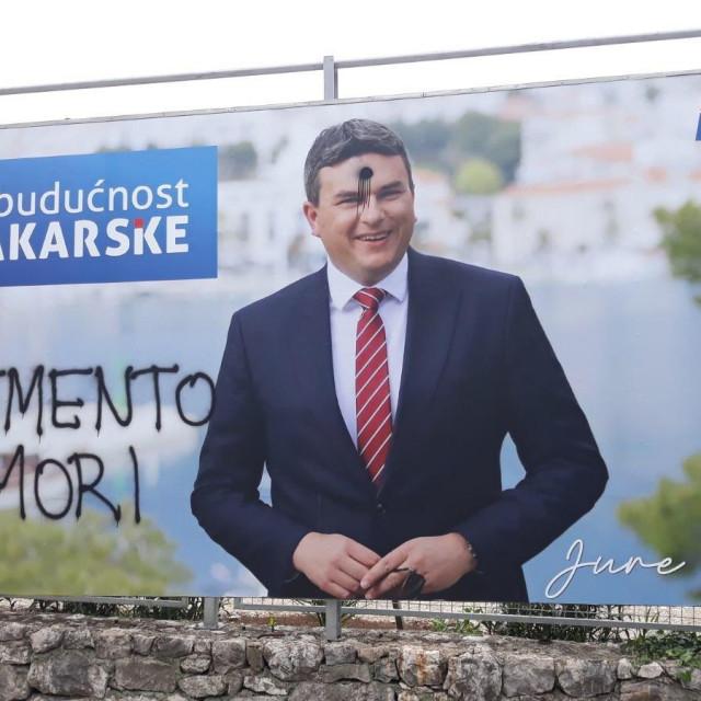 Plakat kandidata Jure Brkana