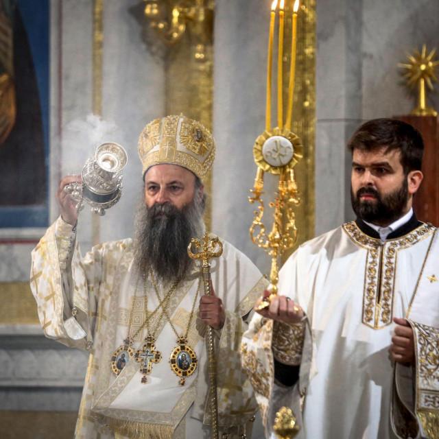 Patrijarh SPC Porfirije prilikom uskrsne liturgije