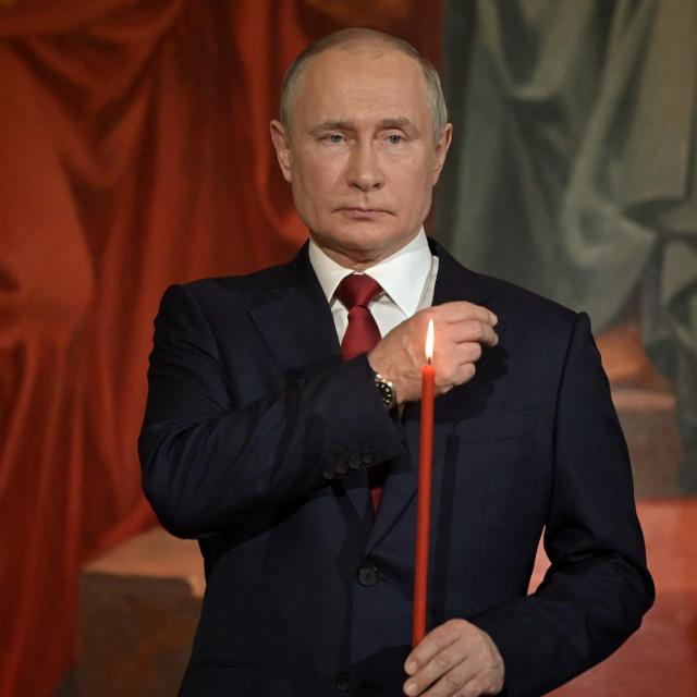 Ruski predsjednik Vladimir Putin na obredu uoči Uskrsa