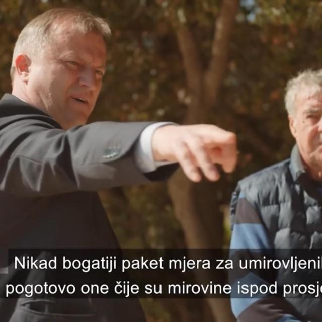Branko Dukić u svom predizbornom spotu