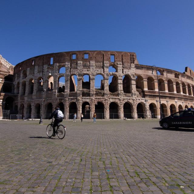 Rimski Kolosej snimljen u ožujku ove godine.