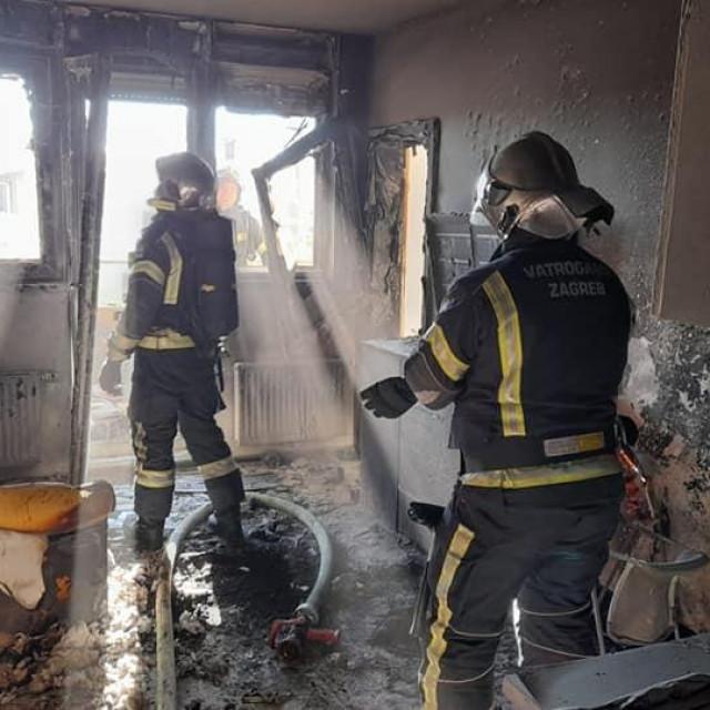 Intervencija vatrogasaca na Trešnjevki