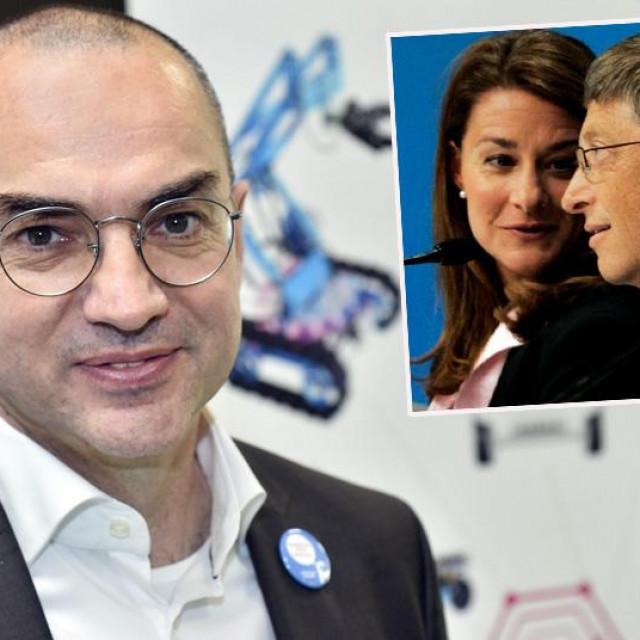 Nenad Bakić i Melinda i Bill Gates