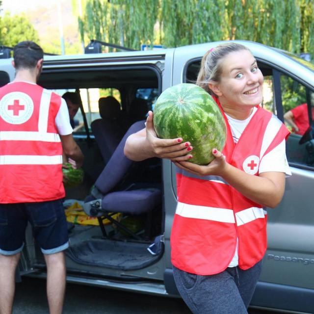 Ilustracija, doniranje lubenica