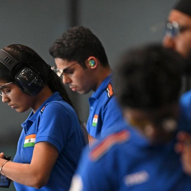 Nastup indijskih streličara na Svjetskog kupu u Delhiju u ožujku 2021.