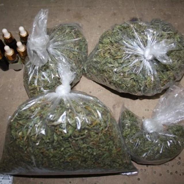 Zaplijenjena marihuana