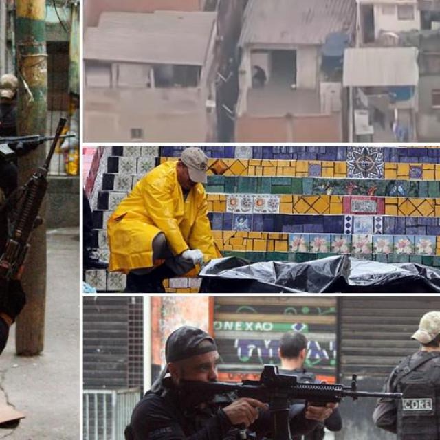 Prizori iz favele u kojoj je tijekom okršaja policije i bandi ubijeno 25 osoba