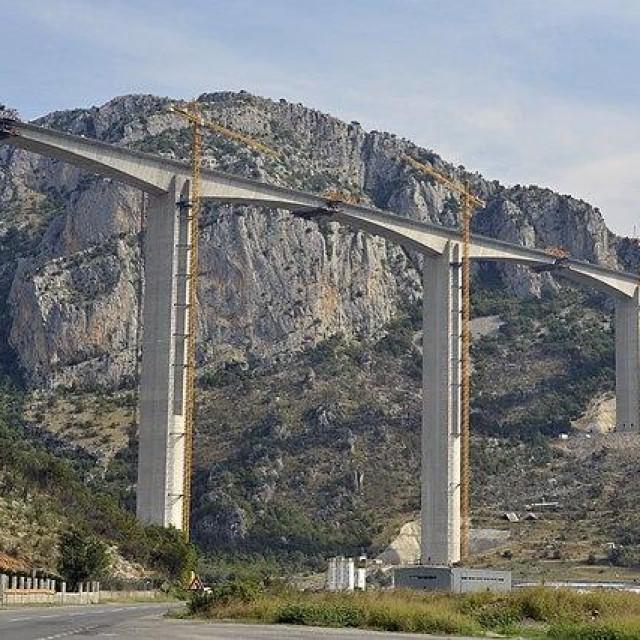 Most Moračica na autocesti u Crnoj Gori, rujan 2019.