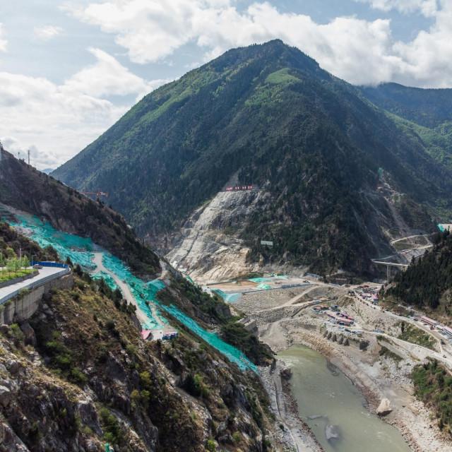 Gradilište hidroelektrane Shuangjiangkou