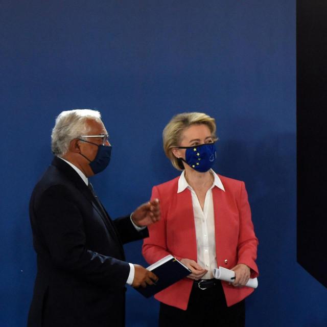 Ursula von der Leyen, Antonio Costa i Charles Michel
