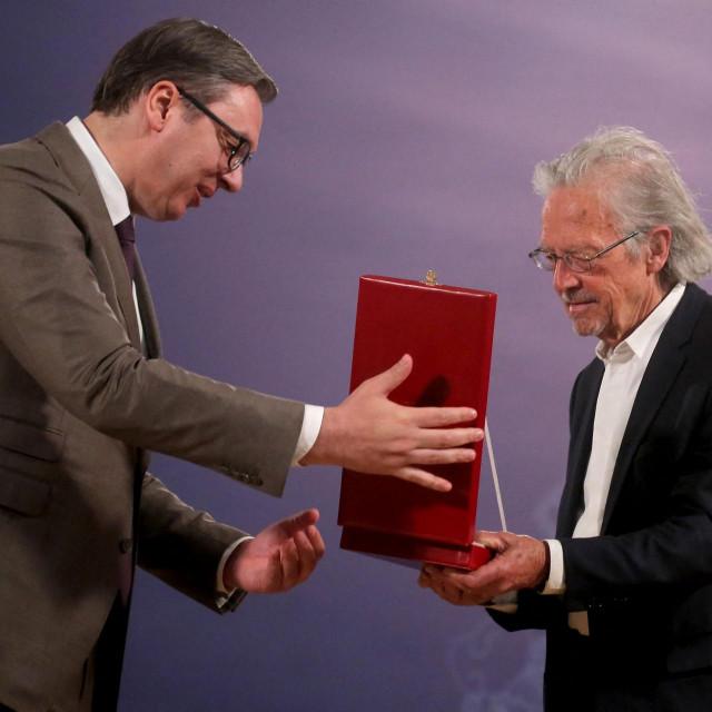 Aleksandar Vučić i Peter Handke