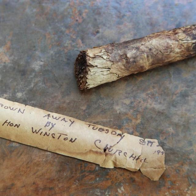 Opušak cigare Winstona Churchilla