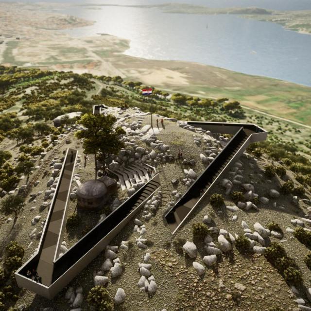 Šibenik - Smričnjak, uređenje bunkera u vidikovac