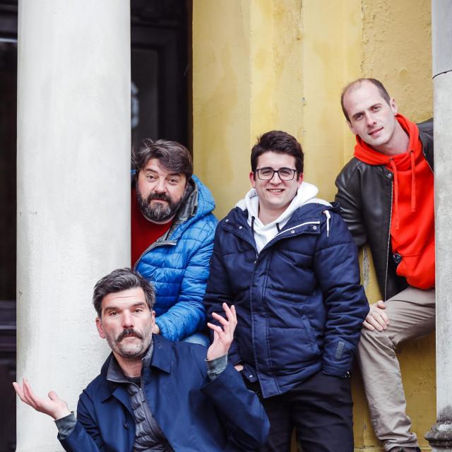 Bjelovarski glumci Bojan Navojec, Goran Navojec, Ognjen Milovanović i Ivan Ožegović