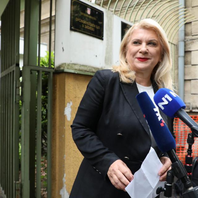 Vesna Škare Ožbolt ispred Općinskog kaznenog suda