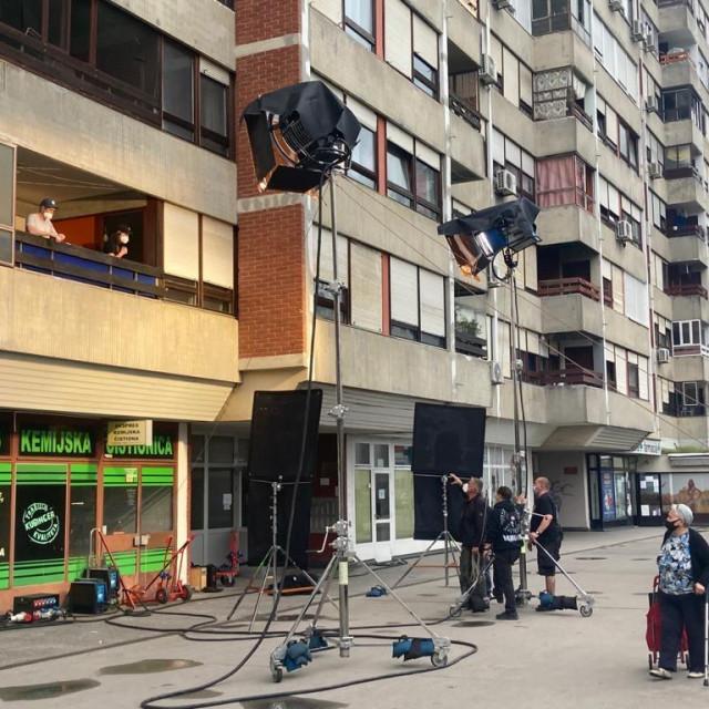 Snimanje serije na Mamutici u Zagrebu
