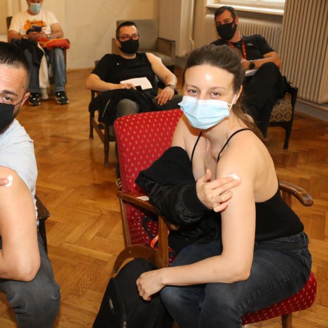 U Hrvatskom glazbenom zavodu provedena je velika akcija cijepljenja djelatnika zagrebačkog HNK