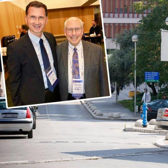 Dragan Primorac i Arnold Caplan, znanstvenik koji je još 1991. otkrio mezenhimalne matične stanice (gore lijevo); KBC Split (glavna fotografija, arhiva)