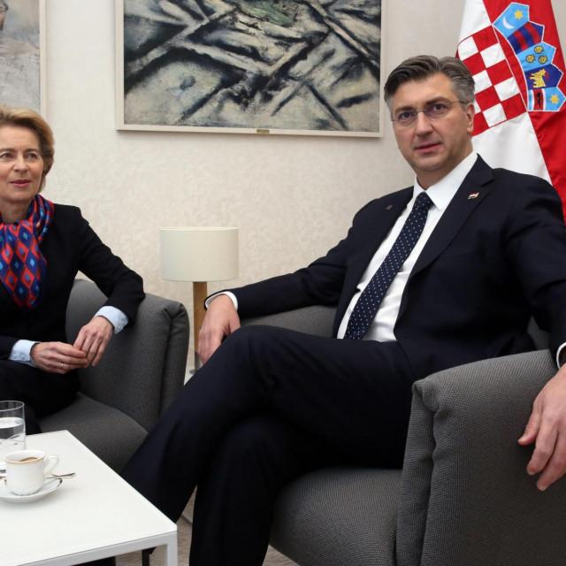 Ursula von der Leyen i Andrej Plenković (arhivska fotografija)