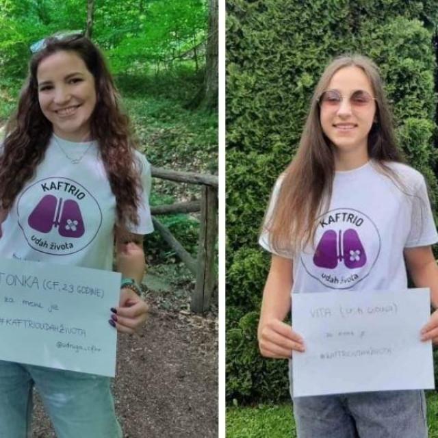 Tonka Vacka (23) i Vita Domović (14) boluju od cistične fibroze od koje boluje oko 150 ljudi u Hrvatskoj