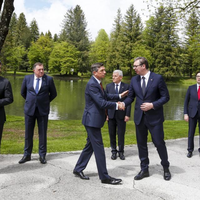 Zoran Milanović, Milorad Dodik, Borut Pahor i Aleksandar Vučič