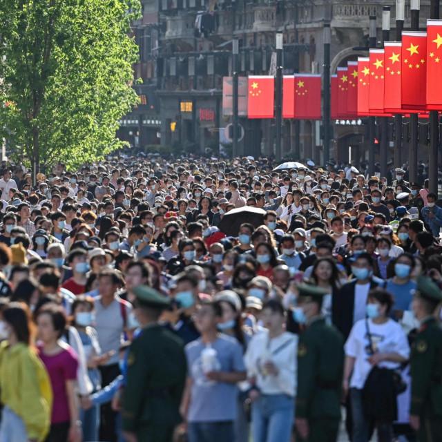 Prizor s ulica Šangaja / Ilustracija