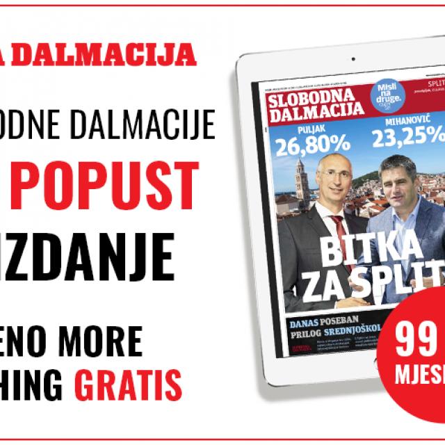 E-izdanje Slobodne Dalmacije