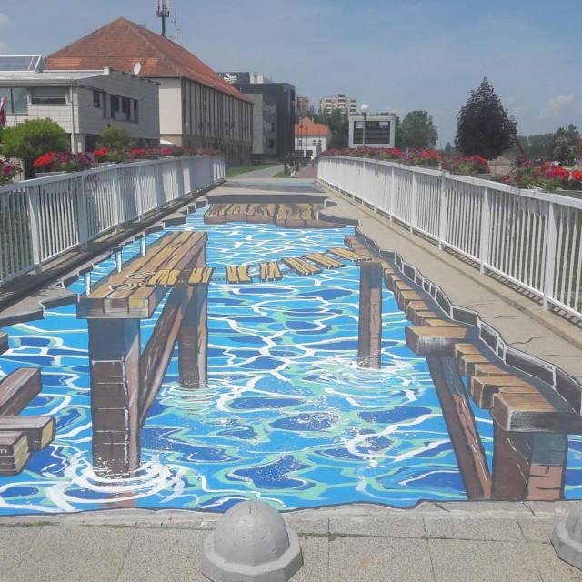3D grafit na mostu u Vukovaru