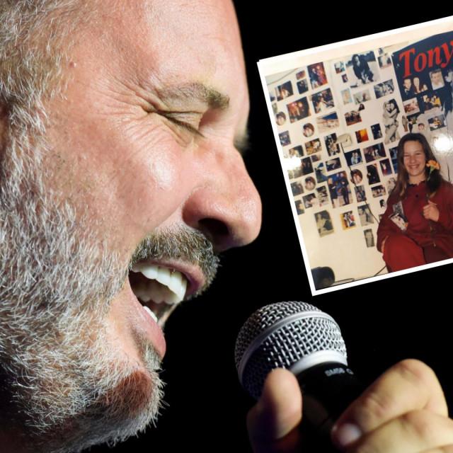 Tony Cetinski i obožavateljica s gomilom njegovih postera u okviru
