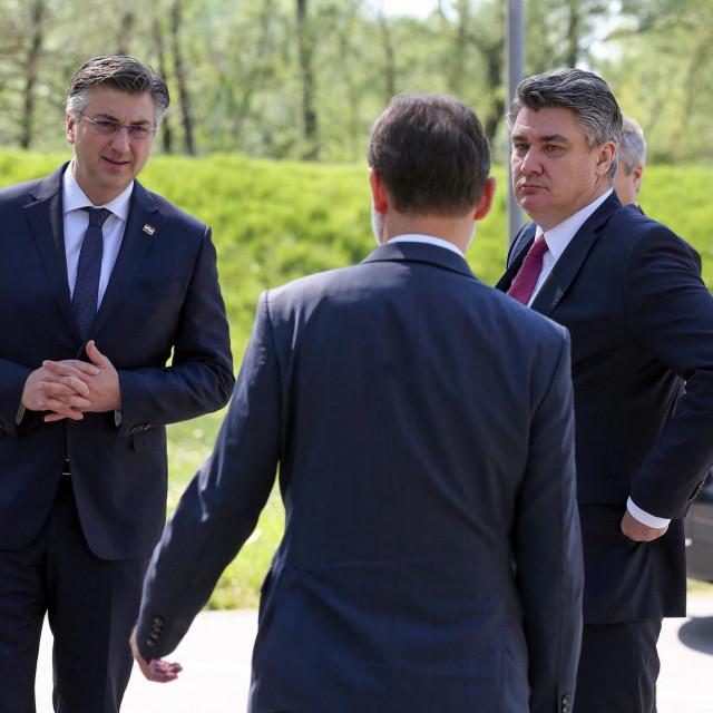 Andrej Plenković; Zoran Milanović<br />